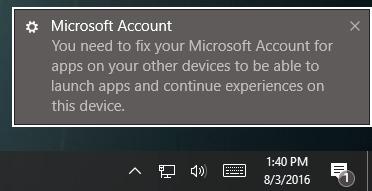 Скриншот ошибки в Майкрософт