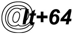 Иллюстрации клавиш для набора символа