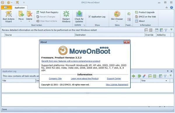 Интерфейс программы EMCO MoveOnBoot