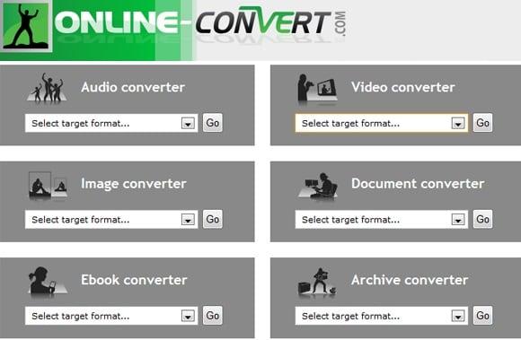 Экран сервиса Online Convert