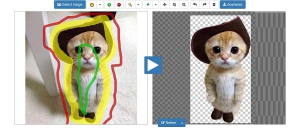 Делаем прозрачный фон с Online-Photoshop