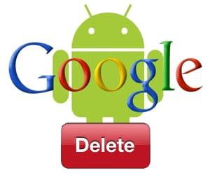 Картинка удаления аккаунта Гугл