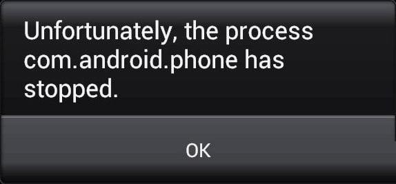 Скриншот ошибки на смартфоне Андроид