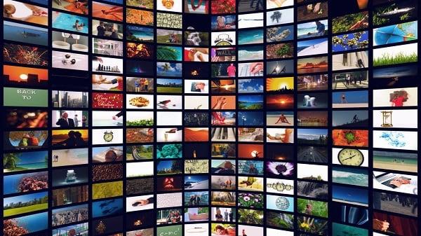 Изображение множества телевизоров в m3u