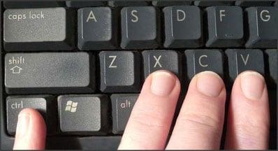 Комбинация клавиш на клавиатуре
