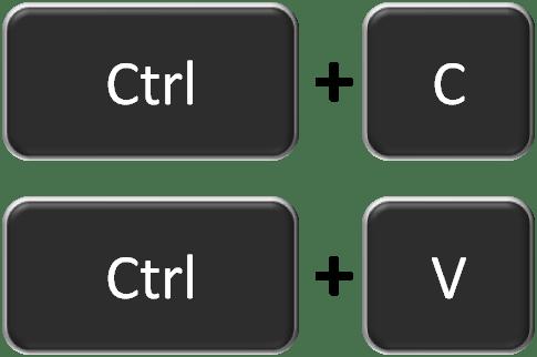 Комбинация Ctrl+C и Ctrl+V