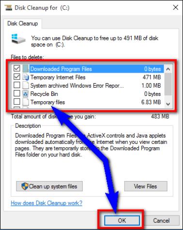 Скрин очистки диска С