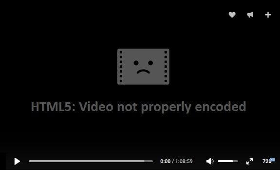Скриншот ошибки HTML5