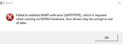 Скриншот ошибки в CS:GO