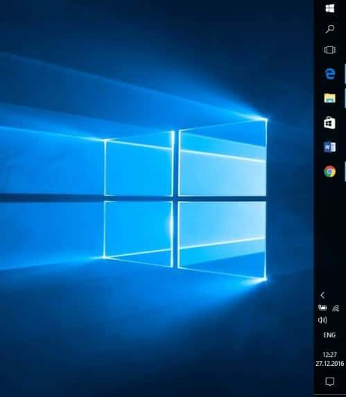 """Панель задач"" справа в Windows 10"