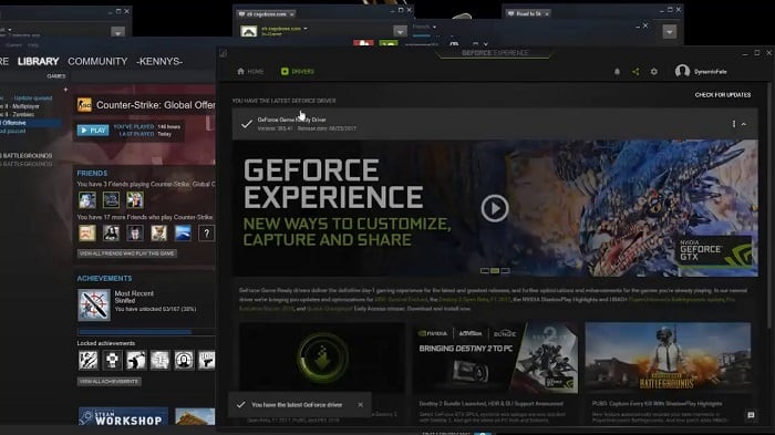Скриншот Geforce Experience
