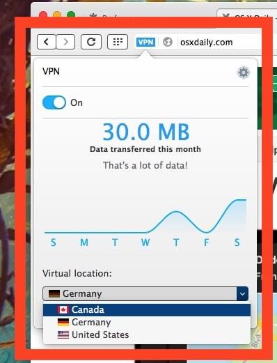 Настройки VPN в браузере Opera
