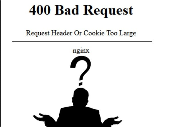 Скрин ошибки 400