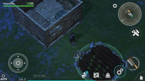 ПоПостроенный дом и грядка