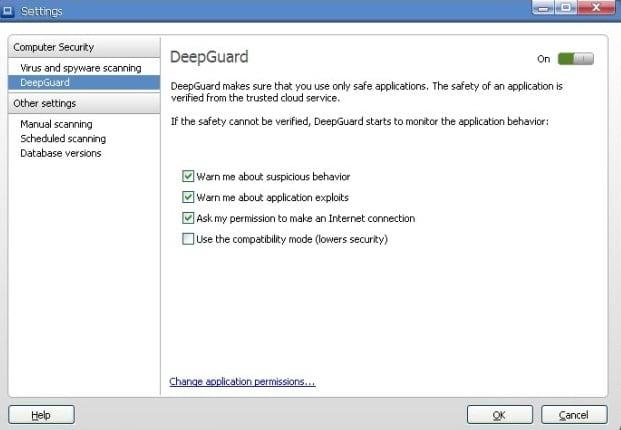 Функция антивируса F-Secure - DeepGuard