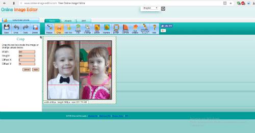 Интерфейс сервиса Online Image Editor