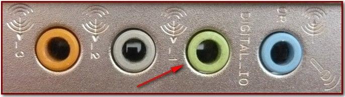 Картинка звукового порта на задней панели