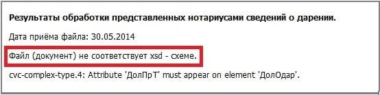 Ошибка 0300300001 при предоставлении нотариальной отчётности