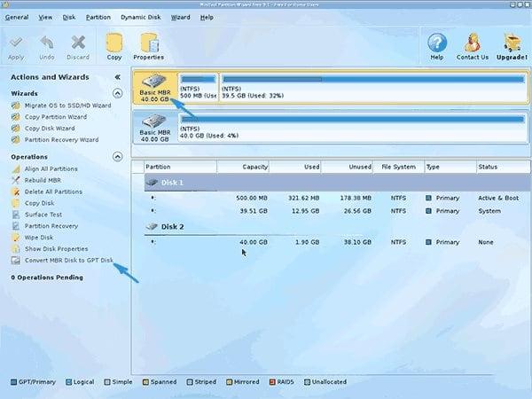 Конвертирование диска