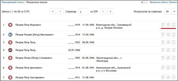 База данных ОБД Мемориал