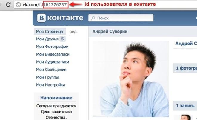 ID пользователя