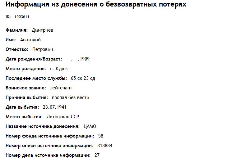 Результаты запроса