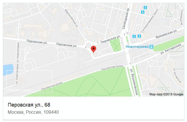 Расположения АСЦ с индексом 111974 в Москве