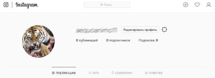 Скрин профиля в Инстаграм