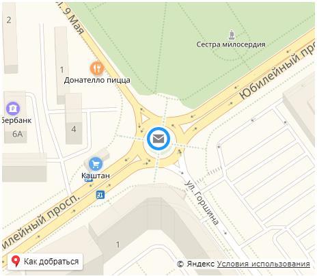 Карта СЦ Химки
