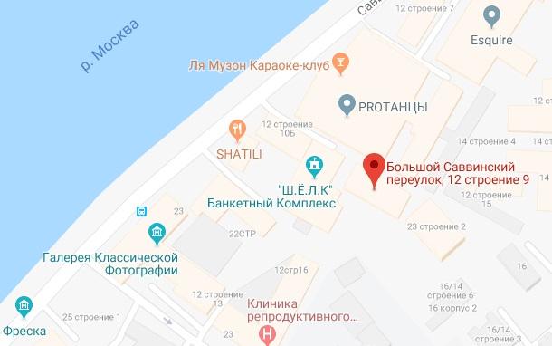 Карта местонахождения Сбербанк-АСТ