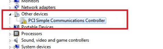 PCI Simple Communication Controller