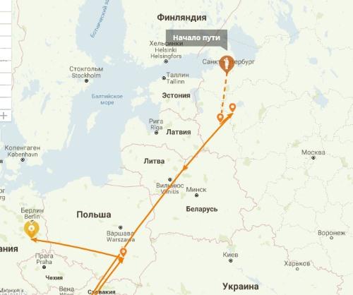 Карта военного пути солдата
