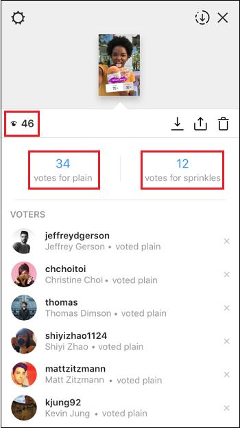 Результаты опроса Инстаграм