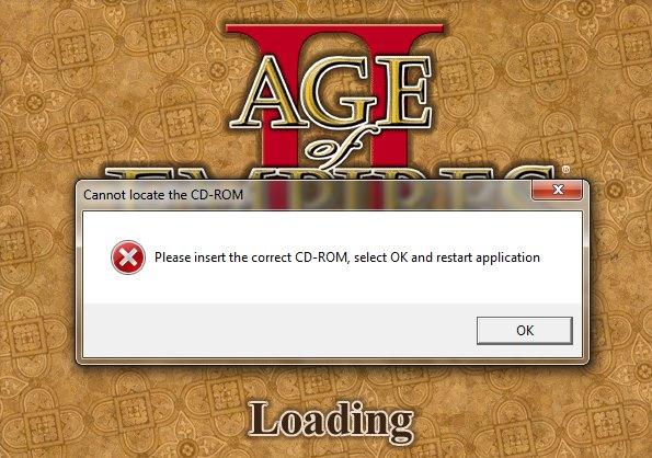 Сообщение об отсутствии CD-ROM