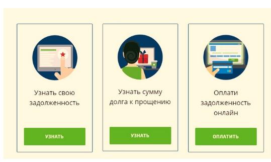 Опции определения задолженности