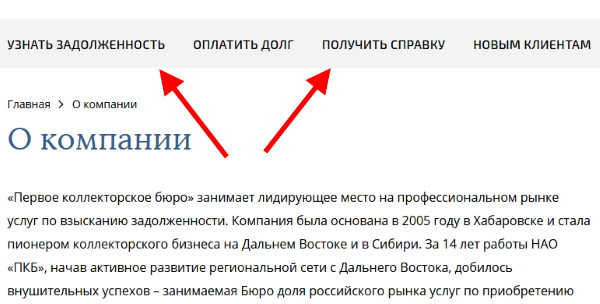 Опционал сайте ПКБ