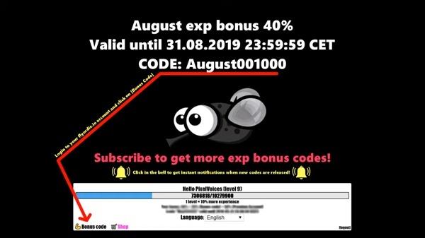Бонус код Август Flyordie