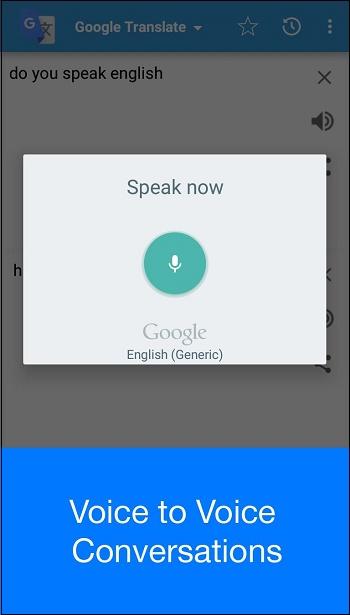 Режим разговора Гугл Транслейт
