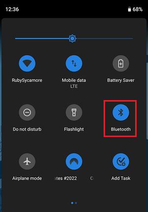 Значок активации Bluetooth