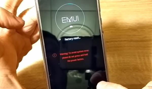 Экран перезагрузки смартфона