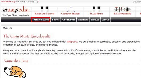 Сайт Musipedia