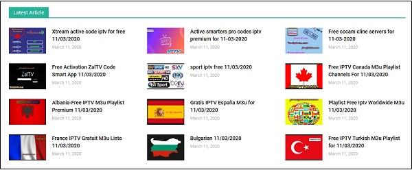Плейлисты на сайте freeiptv4u