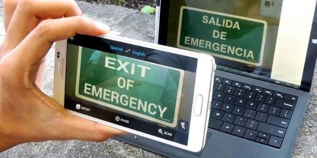 Мгновенный перевод на экране смартфона
