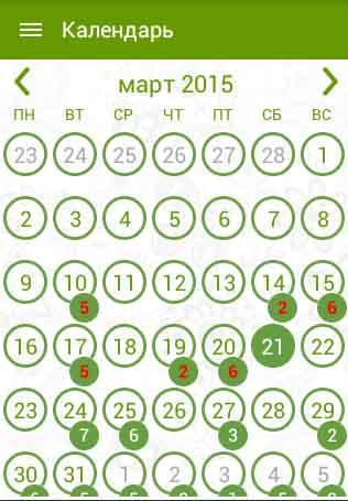 Календарь полива