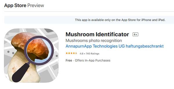Приложение Mushroom Identificator