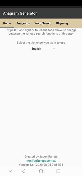 Программа Anagram Generator