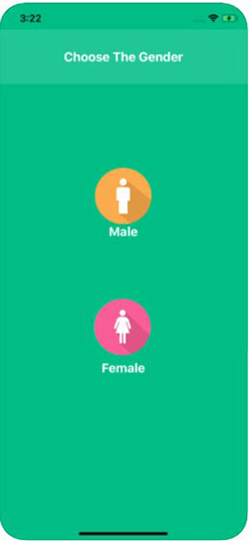 Опция выбора пола