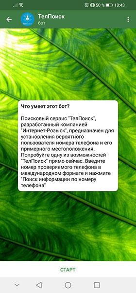 Бот ТелПоиск