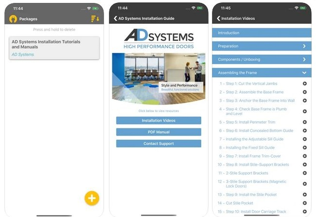 Скриншоты из приложения Квикстеп для Айфонов