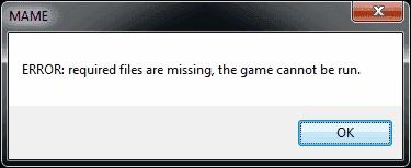 Окно ошибки в игре
